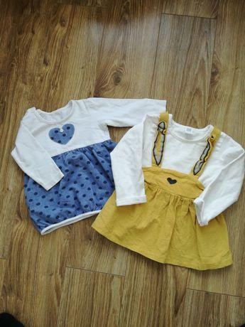 Sukienki dziecięce 5 sztuk, 68-74