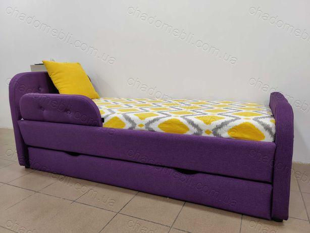 Ліжко м`яке для хлопчика для дівчини з ящиком \кровать мягкая ламели