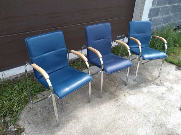 Krzesło biurowe recepcyjne poczekalnia skóra okazja