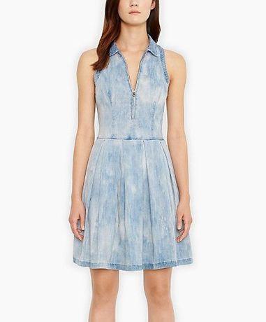LEVI'S levis sukienka suknia niebieska jeansowa dżinsowa 34 XS 36 S
