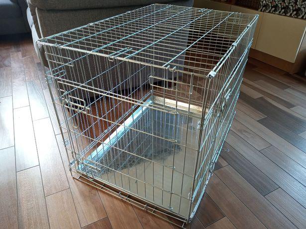 Klatka kennelowa dla psa JAK NOWA - 78x55x60 cm