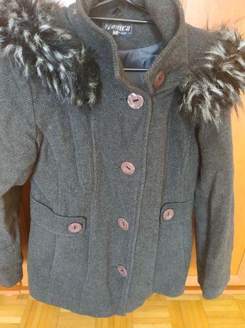 Szary płaszcz - damski