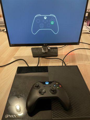 Xbox One 500GB - konsola, idealny stan + 2 pady + gry