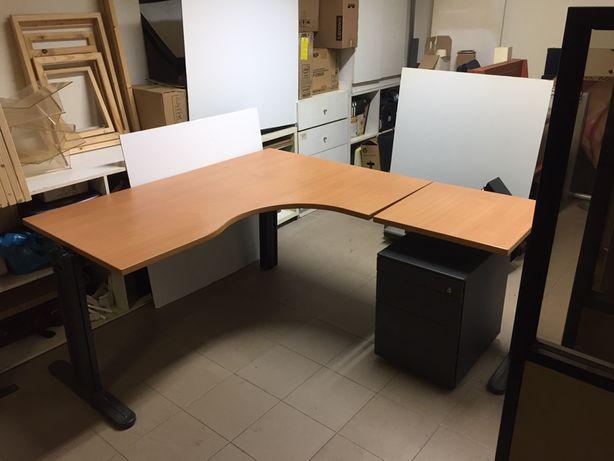 Secretária escritório em 'L' em Faia (oferta gavetas)
