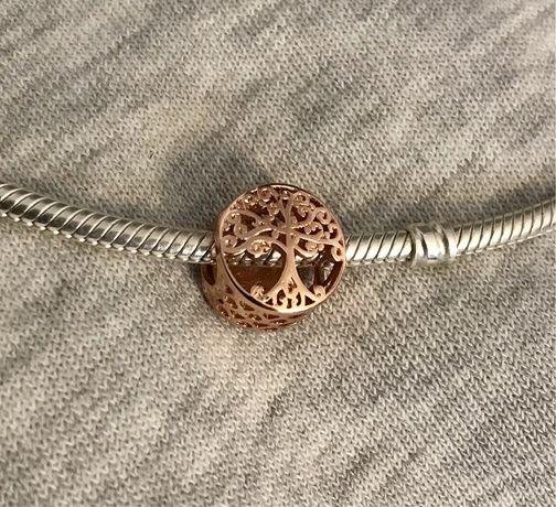 Charms do bransoletek modułowych drzewo srebro 925