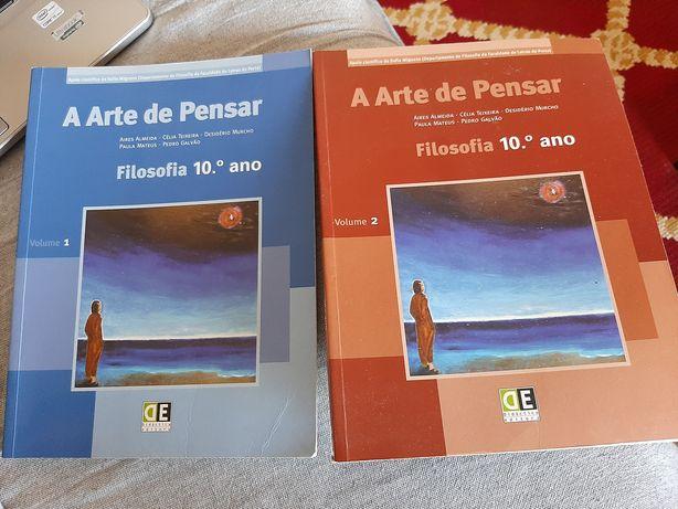"""""""A arte de pensar"""" manual novo filosofia 10 ano"""