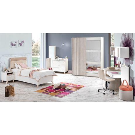 Meble młodzieżowe łóżko szafa komoda regał ZESTAW SIENA Outlet -30%