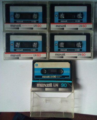 Аудиокассеты Maxell LN 60 и LN 90