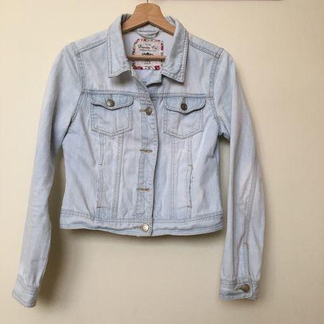 Damska kurtka, jasny jeans, rozmiar M