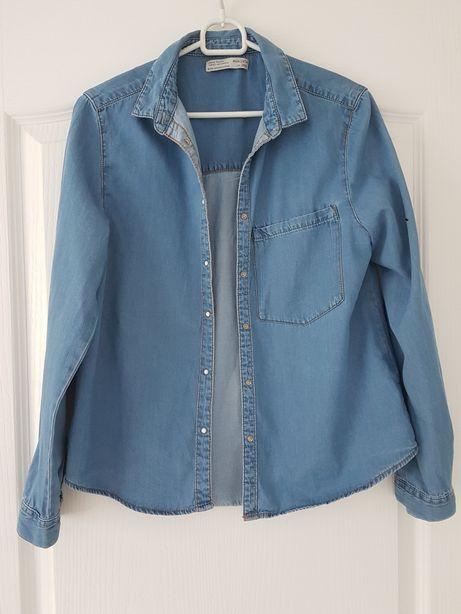 Zara 164 XS XXS koszula jeans blue