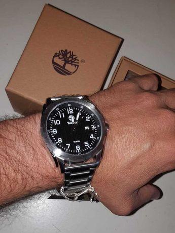 Relógio Timberland Novo Prateado De Aço