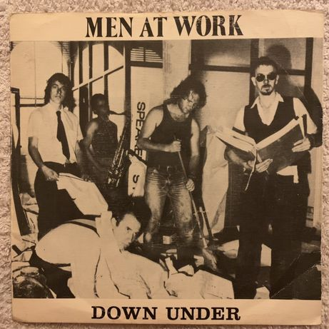 "Men At Work, ""Down Under"" single vinil"