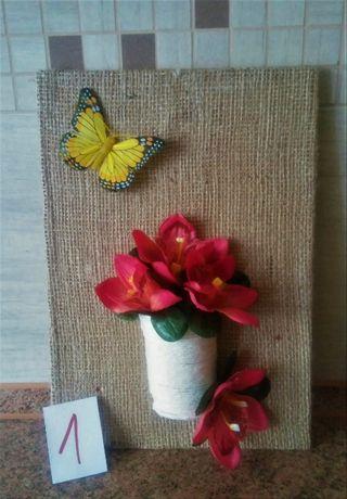 dekoracje,wianki,ręcznie robione,ozdoby,na ścianę,juta,rękodzieło,