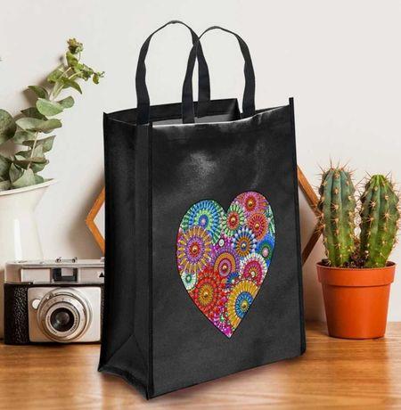 Алмазная мозаика набор для творчества сумка для покупок белая Цветы