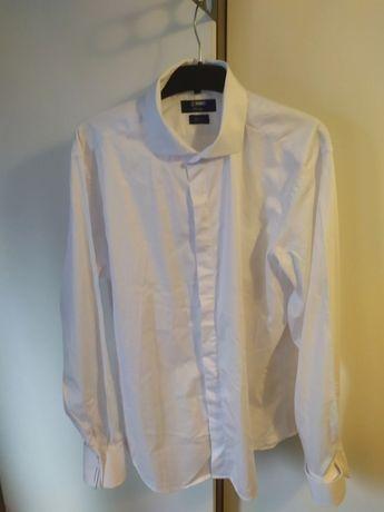 Biała koszula na spinki - PAWO