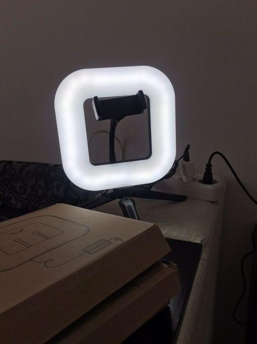 Кольцевая квадратная светодиодная led лампа 21 диаметр Алексеевка - изображение 1