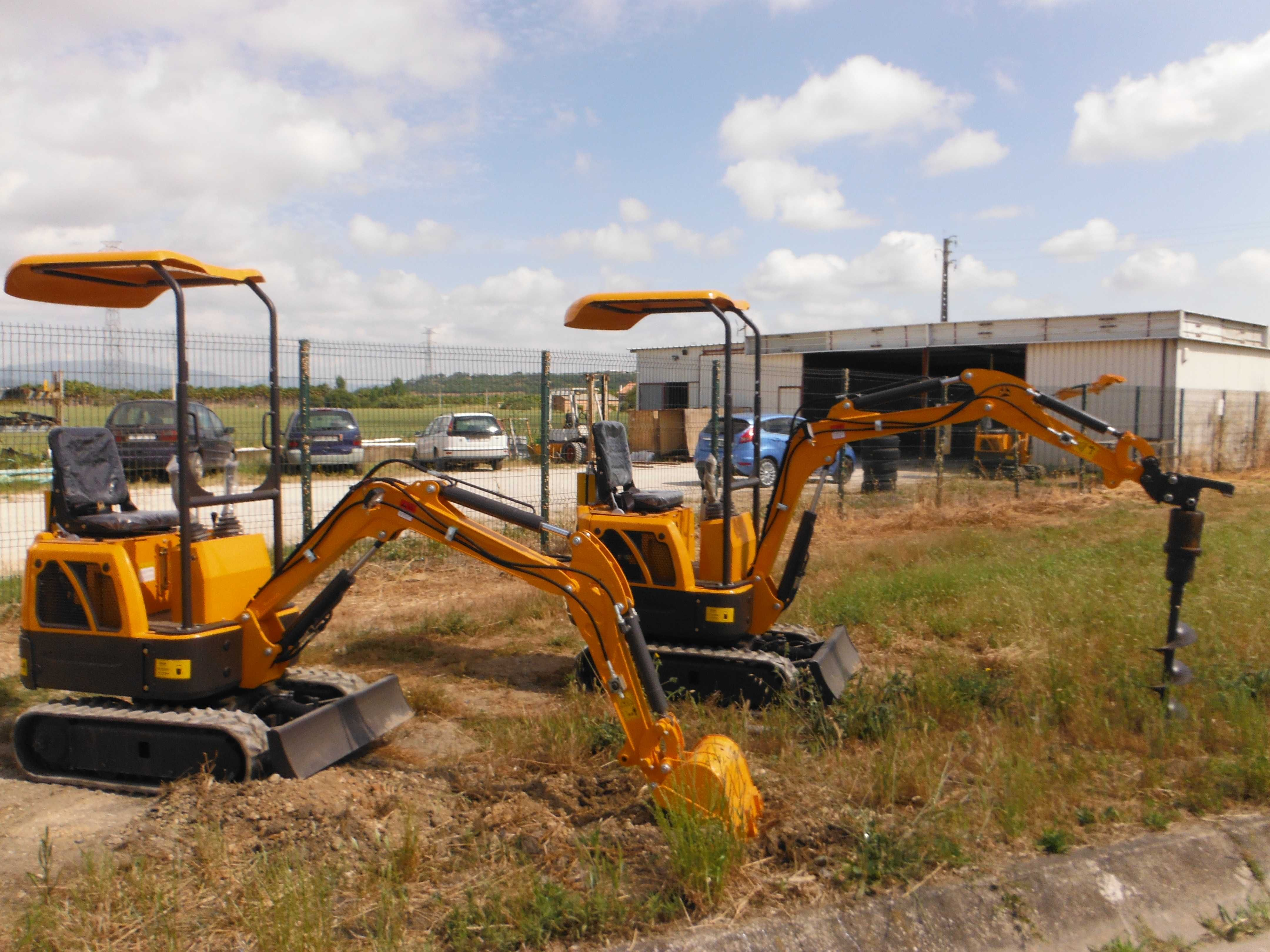 Mini escavadoras giratorias diesel 1.ton novas, cert C.E