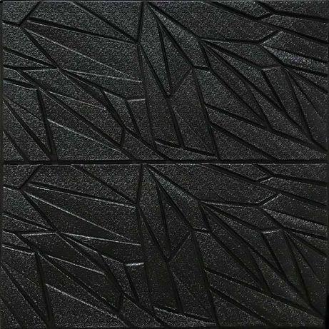 Samoprzylepne Panele Ścienne 3D S13 Beton Kamień Czarna Ozdobna Tapeta