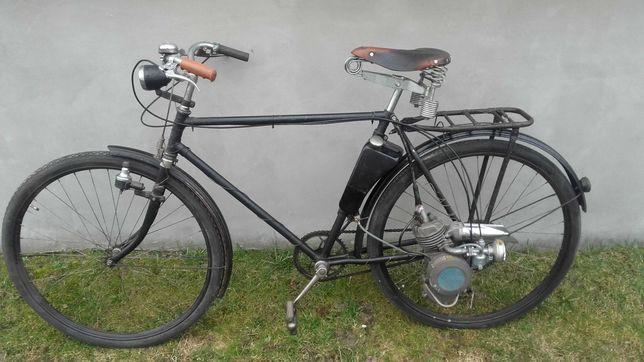 Rower z silnikiem Maw nieużywanym zabytkowy zabytek antyk