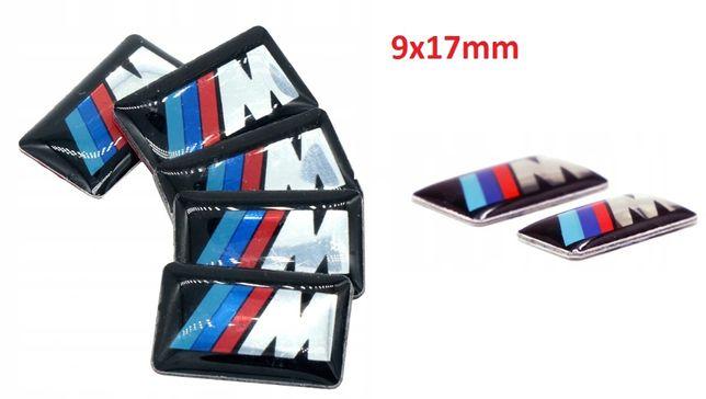 NOWY znaczek M POWER przyklejany 9x17mm emblemat logo BMW metal
