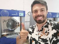 Rent laundromat equipment Lavandaria self service low cost