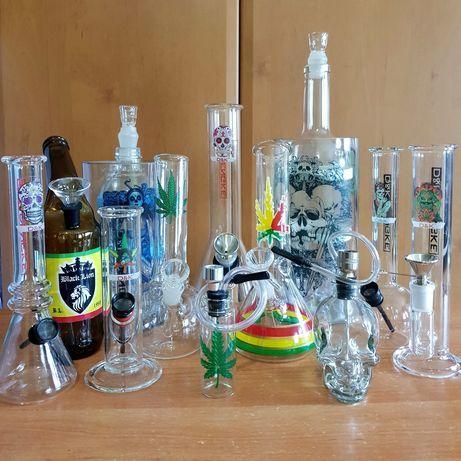 Бонг стеклянный, водный для курения, курительная трубка