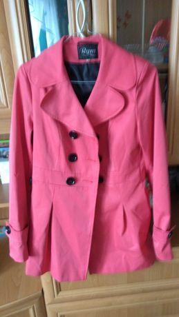 Różowy wiosenny płaszczyk, rozmiar 36