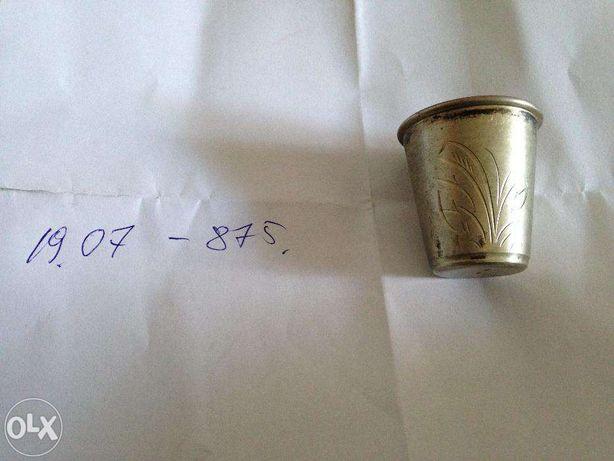 серебр.рюмка с позолотой 875,СССР,ХХВЕК,50 г.г.