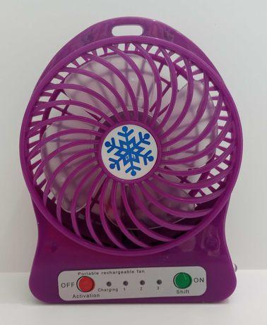 настольный вентилятор со съемным аккумулятором и фонариком
