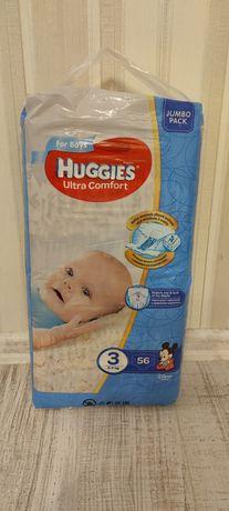 Подгузники для мальчиков Huggies ultra comfort 3 56 шт