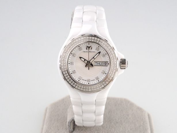 Женские новые часы TechnoMarine Cruise Ceramic Diamonds 36. мм