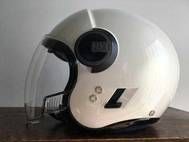Nolan N21 Visior kask otwarty, biały połysk, made in Italy, XS