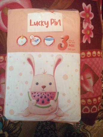 Продам підвузники Lusky Pin  розмір 3, 56 штук. Ціна 300 гривень