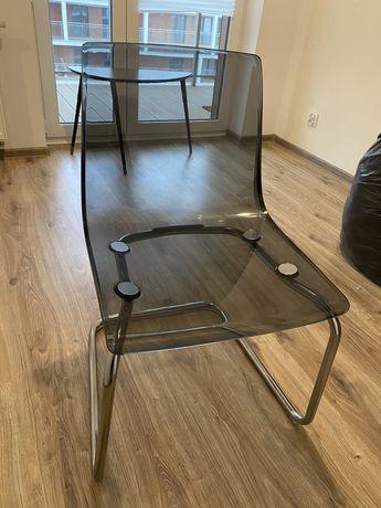 Krzeslo ikea tobias szary chrom