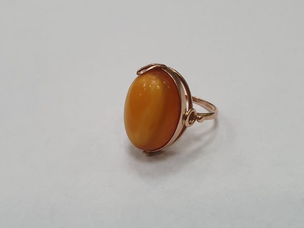 Retro! Piękny złoty pierścionek/ 585/ 4.38 gram/ R15/ Świętojańska 40