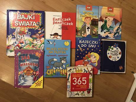 Książki dla dzieci 9 sztuk