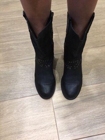 Осінні шкіряні чоботи осенние сапоги кожаные estro