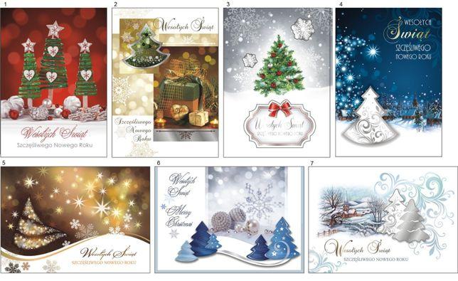 Kartki Karnety okolicznościowe świąteczne 5szt