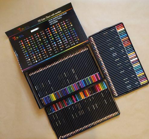 Цветные карандаши, большой набор 120 цветов, эксклюзив