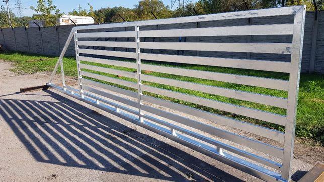 Brama przesuwna poziomy profil 80x20 (4mx1,5m) ocynk PRODUCENT