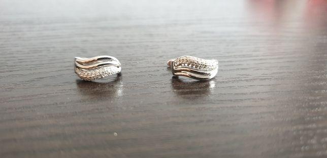 Kolczyki srebrne z cyrkoniami Briju
