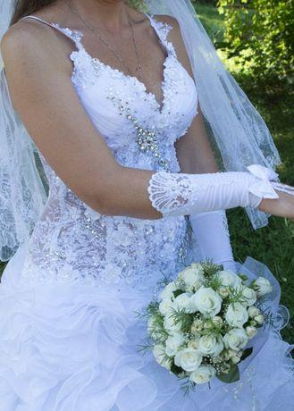 Весільні рукавички.