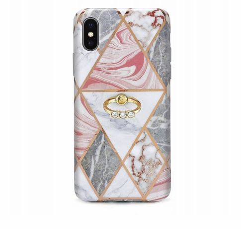 Etui iphone XS intede marble ring