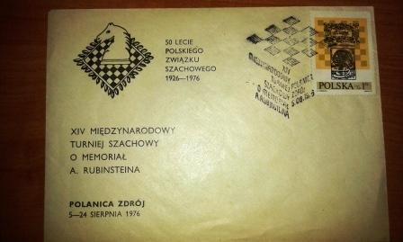 Koperta-XIV Międzynarodowy Turniej Szachowy o Memoriał A.Rubinsteina