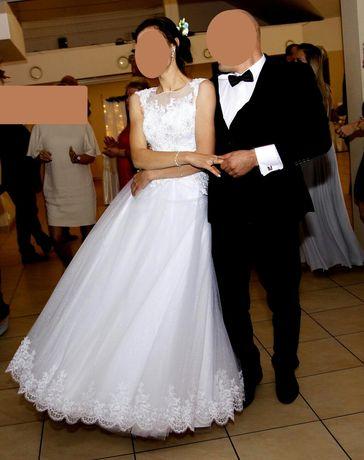 Sukienka + welon+okrycie wierzchnie