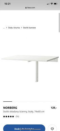 Ikea stolik / biurko skladane scienne