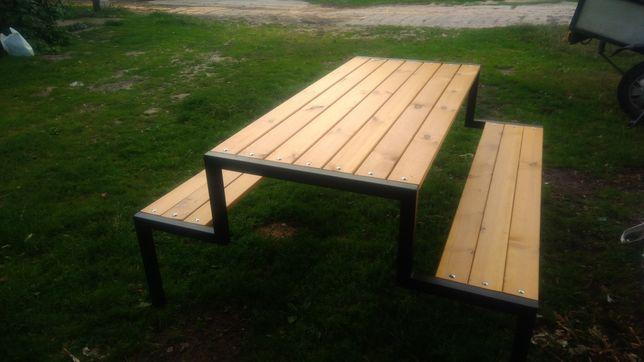 Ławka ogrodowa,stolik