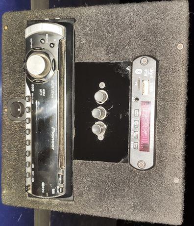 Магнитофон + усилитель (4х50 Вт) 220В