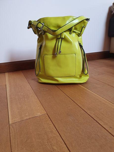 Limonkowa torba typu shopper