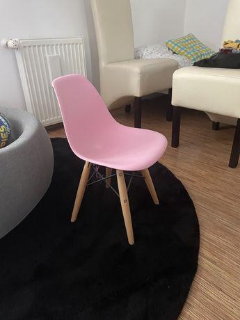 Krzesełko różowe loft nowoczesne dla dziecka